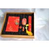 供应定制丝绸面笔记本优盘鼠标鼠标垫杭州生产厂家
