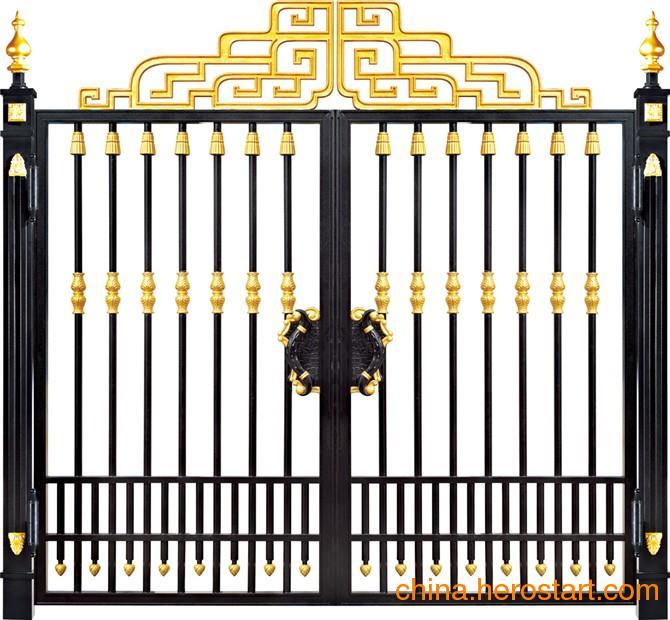供应郑州铸铝别墅门欧式庭院花园大门