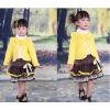 供应广东产地韩版三件套童装长袖花朵蕾丝套装厂家直销90-130码
