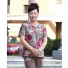 供应夏季冰丝宽松大码中老年女士T恤批发辽宁沈阳便宜中老年服装货源