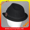 供应秋冬天 新款 英伦风羊毛爵士帽 男女通用 时尚 小礼帽批发