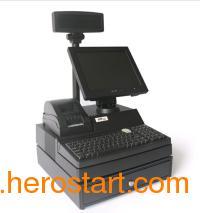 供应收款机套件 POS收款机七件套/机箱/钱箱/键盘/显示器/客显/打印机/电源