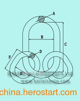 供应G80美式子母环