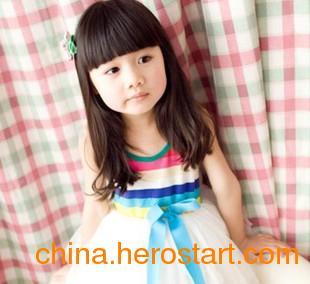 供应2013夏季新款四季青白色彩虹条纹裙小公主雪纺女童裙杭州一件代发