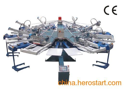供应SPJ全自动旋转胶浆印花机/丝印机