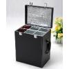 供应黑色六支皮盒 礼品包装盒 红酒礼盒 酒盒