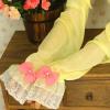 供应蕾丝边长款防晒袖套 长款带蝴蝶结女生袖套 夏季必备