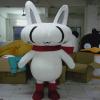 供应卡通服装 表演人偶 毛绒卡通 定做白猫