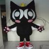 供应卡通人偶 表演服装卡通 道具定做人偶 黑猫