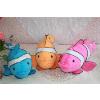 供应粉黄蓝三色四种规格卡通丑丑鱼  礼品毛绒玩具