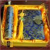 供应尚锦蓝色富贵宝花两件套笔记本+鼠标垫