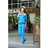 供应2013韩版女款大码显瘦运动套装厂家 优质天鹅绒套装批发