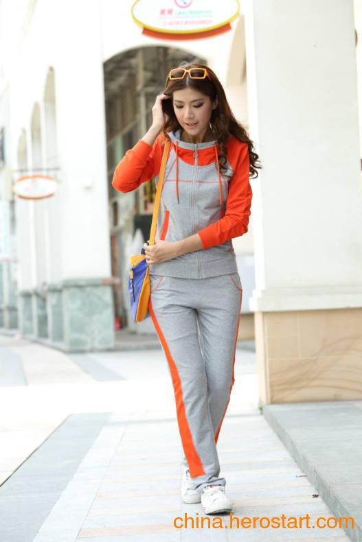 供应十三行高档女士卫衣套装批发韩版休闲运动服套装厂家直销