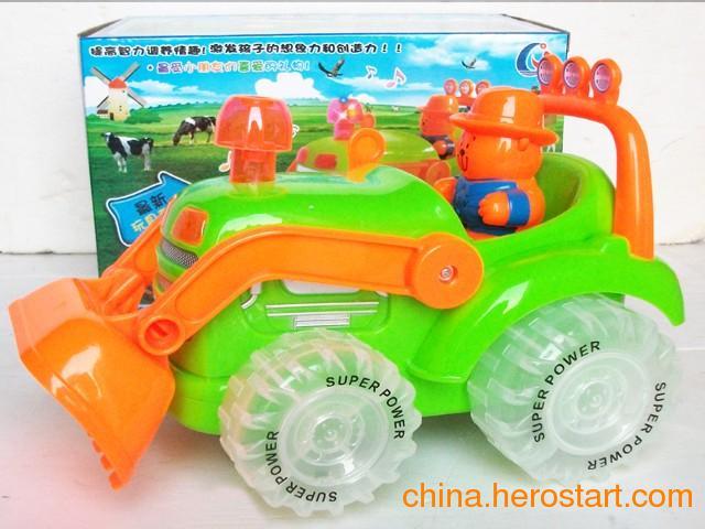 供应电动万向卡通农夫车,电动玩具,益智玩具批发