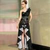 供应黑色抹胸立体造型晚礼服 厂家一手货源 欢迎代理加盟