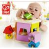 供应德国hape儿童玩具1-2岁分类积木盒优质荷木积木木制大块宝宝益智早教智力