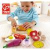 供应德国hape过家家玩具 厨房食物套装3岁以上儿童玩具采用环保水性漆优质荷木