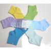 供应袜子批发:女式彩棉船袜