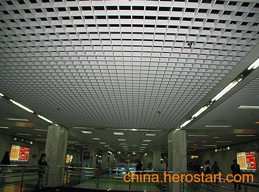 供应大型铝格栅效果
