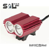 供应BL013红色黑色 LED山地车灯 2000流明LED山地自行车灯 LED单车灯