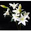 供应高档外贸pu百合花 唯美仿真花绢花假花落地客厅摆放装饰花