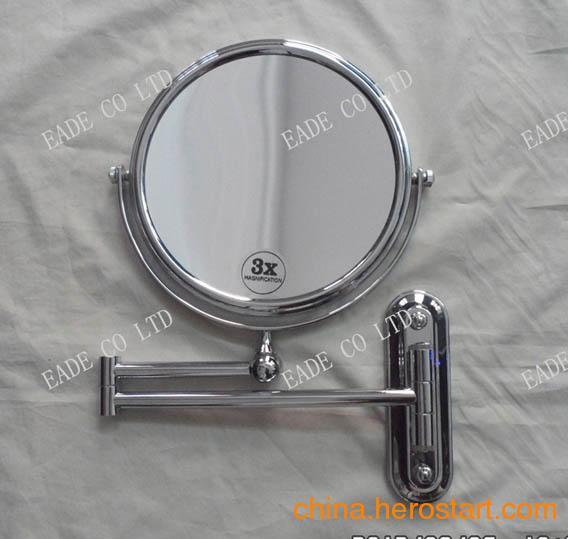 供应浴室化妆镜 挂墙剃须镜 锁墙美容镜 卫浴放大镜