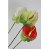供应爆款特价红掌 仿真花套装 植物盆栽假花绢花塑料花盆 室内装饰花