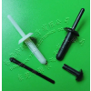 供应塑胶抽芯胶铆钉 绝缘耐热空心拉钉 黑色塑胶抽芯铆钉汽车专用 SL型雅博供用铆钉抽芯