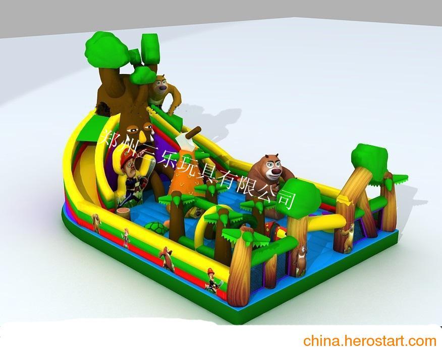 供应世界上的熊都一个样大型充气城堡乐园