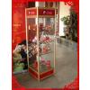 供应专业定做各种尺寸展示柜货架 铝合金展柜 钛金货柜