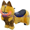 供应三乐高级毛绒加菲猫儿童毛绒电瓶车