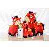 供应2014新年创意礼品礼物生肖财神马公仔玩偶布娃娃毛绒玩具