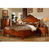 美式田园实木床,套房家具,全实木家具,别墅家具供应商