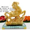 供应办公室摆件马年纪念品,广州合金水晶工艺笔筒,成功水晶金马笔座