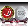 供应陶瓷纪念礼品瓷盘,周年庆典纪念品定制,景德镇瓷盘厂家