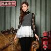 供应蕾丝打底衫女长袖秋冬新款韩版潮蕾丝上衣t恤女长袖蕾丝衫