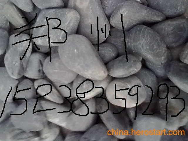 供应纯黑鹅卵石