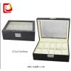 供应厂家直销高档大方展示皮革多支装手表盒 皮制十只装PU手表包装盒