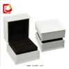 供应深圳厂家订做求婚用戒指盒 高档饰品盒子 白色塑胶喷油对戒盒子