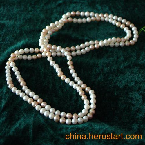 供应韩版新款淡水珍珠毛衣链