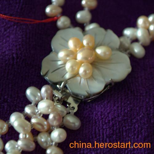 供应新款天然淡水珍珠毛衣链