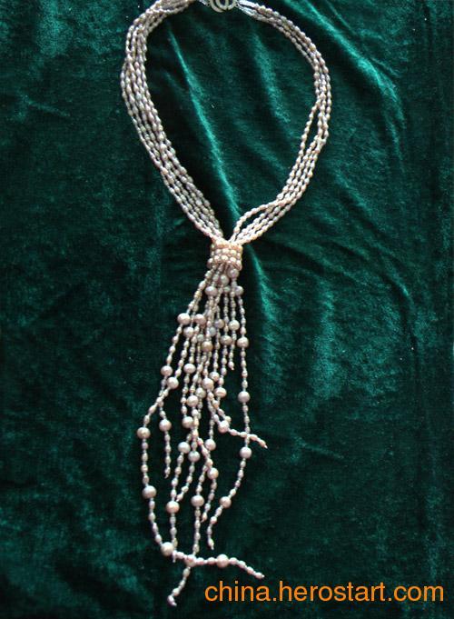 供应新款妈妈韩式淡水珍珠毛衣项链