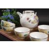 供应7头手绘凤凰牡丹灯笼骨质瓷茶具