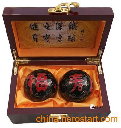 供应王铁匠 黑色福如东海寿比南山景泰蓝健身球 寿星过寿 保定铁球