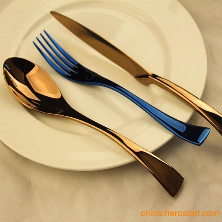 供应酒店用品批发 酒店西餐刀叉 外贸西餐具 礼品刀叉更