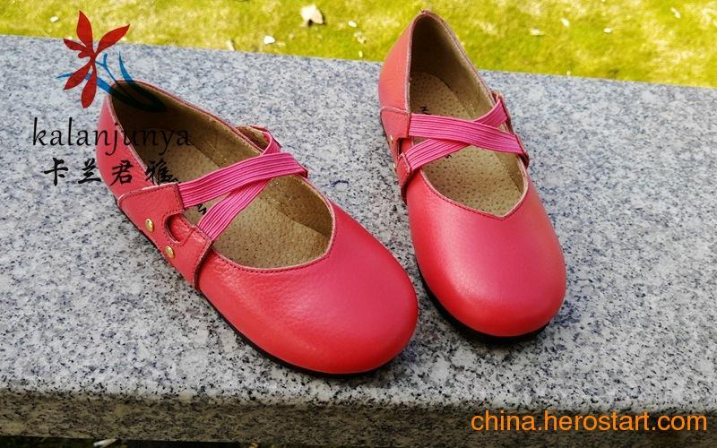 供应广州童鞋批发 厂家直供 单鞋 真皮女童鞋春秋款头层牛皮女童