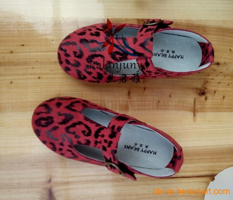 供应2013广州童鞋批发厂家直供春秋款韩版儿童牛皮单鞋/一件代发