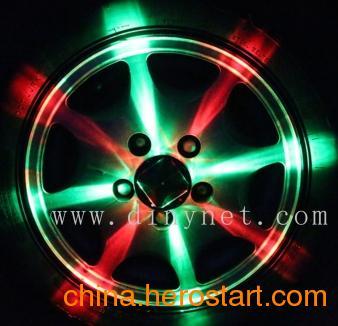 供应厂家直销 LED太阳能轮毂灯 炫彩车轮灯 汽车装饰灯 风火轮/夜视灵