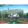 供应校园不锈钢雕塑 植物莲花雕塑 标志性雕塑 重庆渝北中学雕塑