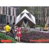 供应地产公司雕塑 小区雕塑 正方体雕塑 不锈钢几何体雕塑 小区雕